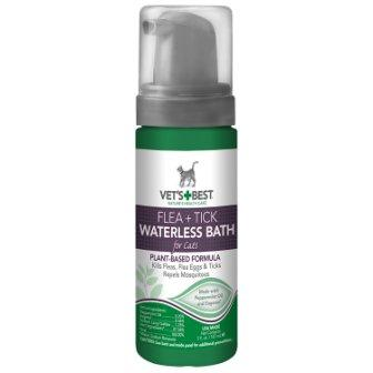 Vets Best Natural Flea and Tick Waterless Bath Foam for Cats